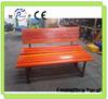 Long life durable outdoor wood garden bench