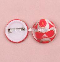 custom round plastic pin badge