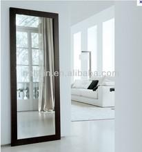 Elegant wooden frame mirror, full length bedroom mirror