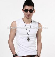 2014 cheap bland tank tops for men sports gym vest dri fit elastic mens tank tops