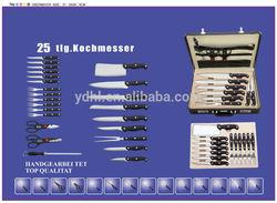 24pcs kitchen knife set in suitcase/lock case