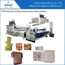 Pizza box making machine complete machine to make carton box corrugated cardboard die cutting machine