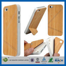 "C&T Smart cover wooden hard skin for iphone 5"" case wood"
