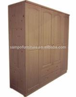 kids wooden wardrobe SP-C02