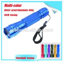 2014 Promotional Aluminum Alloy Flashlight Accessaries 501B Flashlight Casing