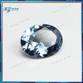 china 2014 precioso avanzadas inoxidable oval corte en bruto azul de la boda de diamante de la decoración