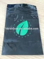 Plastic bag hot stamp for herbal incense packaging