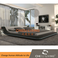 white leather bed king, white leather bed frames, modern white leather bed3029