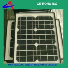 20W 18V monocrystalline solar panel with plastic frame