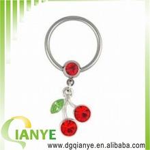 2014 hot sale Lucky Cherries Nipple Ring CBR
