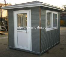 light steel prefab sentry box/guard house/shop/kiosk/booth/ticket office