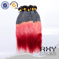 brasileiro de cabelo misturado cor vermelho vinho 99j remy extensões de cabelo