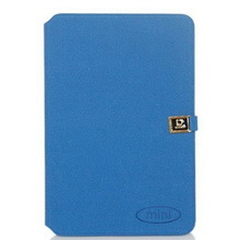 2014 New products PU leather Case for iPad Mini Leather Cover With D Buckle