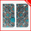 Cute folio leather case for iphone 5s art printing