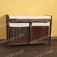paulownia wood hallway furniture shoe cabinet