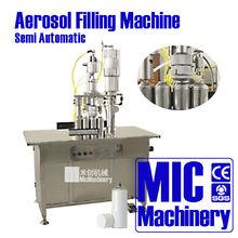 Outstanding manual aerosol filling machine 800-1200 cans per hour 30-500ml