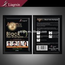 2014 Best bulk hair color hair dye shampoo black henna for hair with argan oil essence 25ml