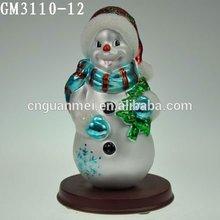 Latest Cute Fairy Glass Snowman Ornament Crafts