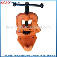 Spanish type heavy duty cast iron heated teeth Hinged pipe vise