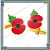 Fashion Custom High Quality Brass Poppy Cuff Links for Promotion Gift