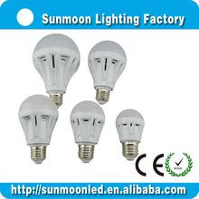 3w 5w 7w 9w 12w e27 b22 ce rohs low price 550 lumen led bulb