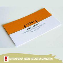 Creative stylish screen printing foil business card