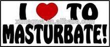 I LOVE TO MASTURBATE dirty words magnetic car sticker/custom car sticker