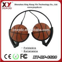 cheap price super bass basketball shape headphopnes