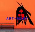 Índio guerreiro Native American Apache Art duas cores removível Wall Decor Decal NO.9741