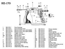 Re-170 textil limpieza gun / máquina de coser repuestos