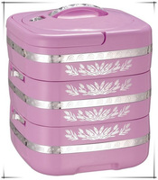 High Quality 7.2L ABS Food Container With Silver Flower