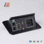 JS-220H HDMI, 3.5 MM Audio, UK Plug Pop Up Desk Cable Organizer