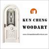 High quality solid wood door glass wood door batheroom door