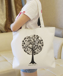 2015 hot style Canvas tote bags wholesale/custom printed canvas tote bags/canvas tote bag