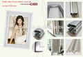 abierto complemento de perfiles de aluminio ultra delgado marco de imagen led caja de luz