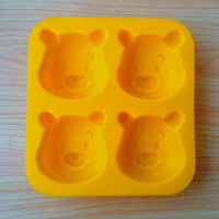 popular holiday and party supply 3D cartoon silicone soap and candle molds