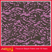 2014 latest sequin fabric burn-out gauze screening windows fabric