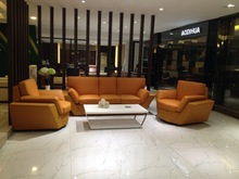 2014# hot sale modern colour leather office sofa AD-863