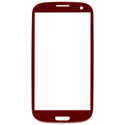 Alibaba express China manufacturer outer screen glass lens for Samsung Galaxy SIII S3 i9300 Red