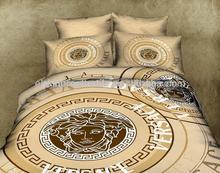 100% cotton 3D luxury brand design reactive printed bedding set