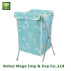 Oxford foldable laundry storage box with lid in bathroom