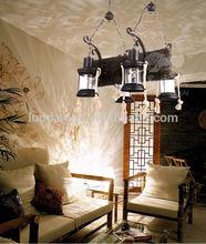 Newest modern iron and Resin Brass chandelier pendant lamp light