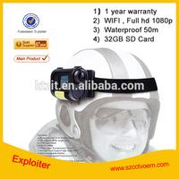 Waterproof HD 1080p tactical helmet camera
