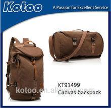 High quality high end expensive canvas backpack bag for men shoulder bag