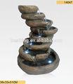 polyresin decoración de piedra fuentes cascada 14047