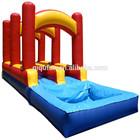 Inflatable Tri Color Inflatable Slip n Slide w Splash Pool Splash Water Slide