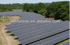 Concrete ground mounting system solar power plant 1mw
