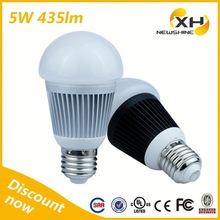 Warm White Cool White Free Sample ETL UL 5w led bulb e27 base