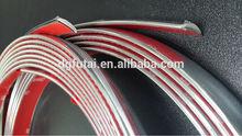 Nuevos productos de alto qulity de moldeo de cromo tira de ajuste, tira de cromo para el coche, 3m cinta de cromo