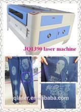 Jeanswear decorate personalize-jeans with laser machine/ Tissu vetement gravure au laser CO2 laser machine